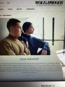 Maria Laura Wandavi sells her ecofriendly fashion online