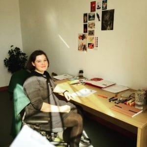 award winning children book writer Philippa Rice at Oldknows Factory